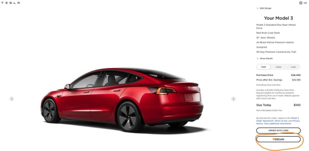 Tesla Now Accepting Bitcoin As Payment