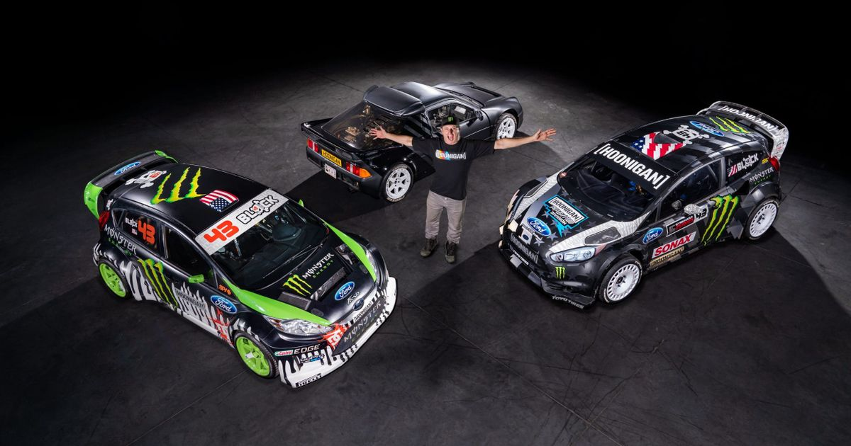 Ken Block's RS200 And Two Gymkhana Fiestas Are Up For Sale
