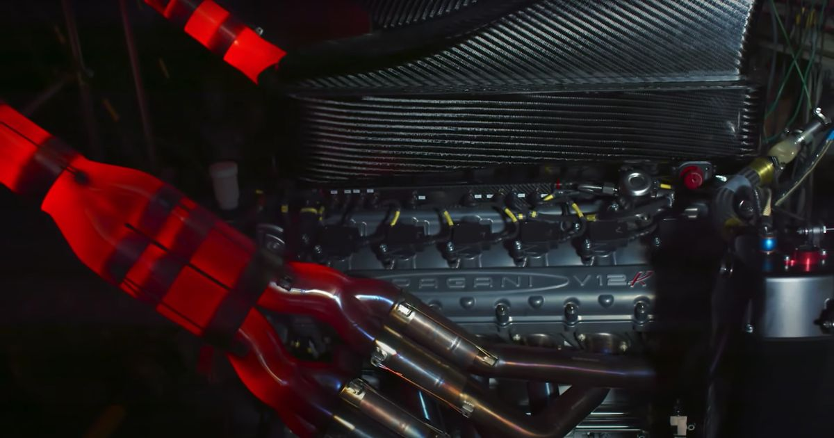 Pagani's New 9000rpm-Capable N/A V12 Sounds Like An Old F1 Car Engine