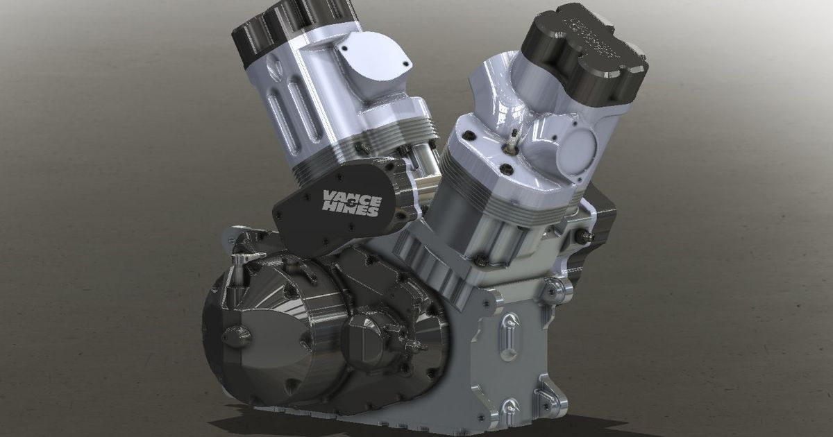 This Is A Brand New 2.62-Litre V-Twin Engine For The Bike Drag Racing World