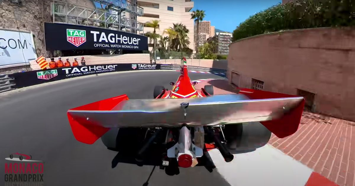 This Third Person Retro F1 Car Footage At Monaco Is Like A Video Game IRL