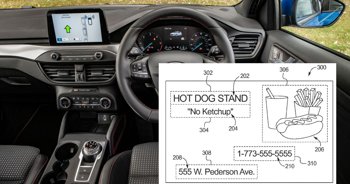 Future Fords Could Scan Billboards And Show Associated In-Car Ads, Patent Suggests
