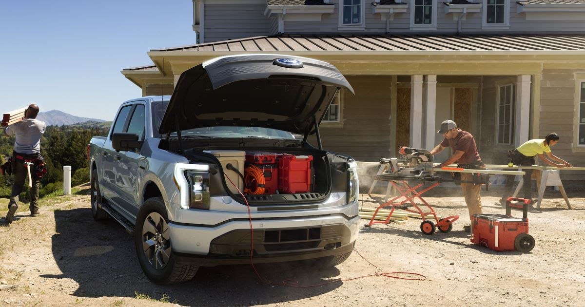Behold, The Ford F-150 Lightning And Its Gigantic Frunk