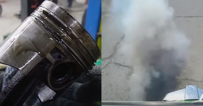 How Much Oil Does A Car Burn With The Valve Seals And Oil Rings Removed?
